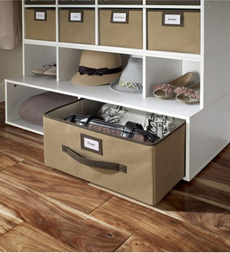 My Gift Booth Nylon Mocha Storage Box