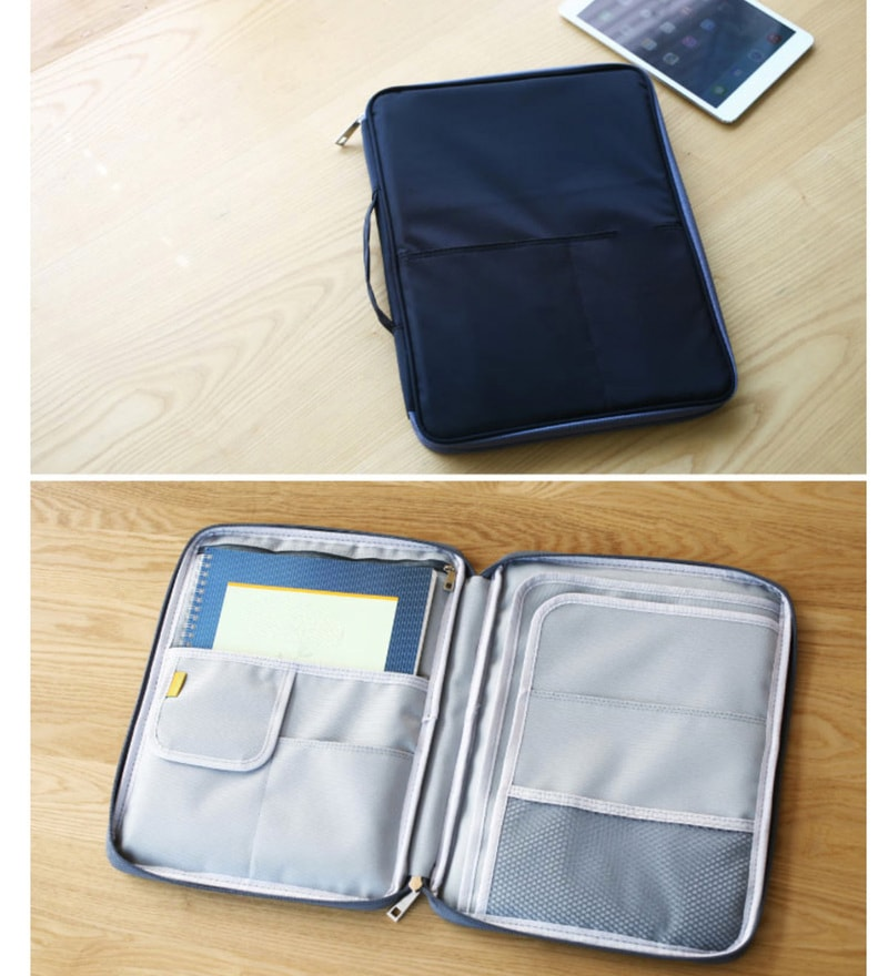 My Gift Booth Nylon Navy Blue Note Pouch
