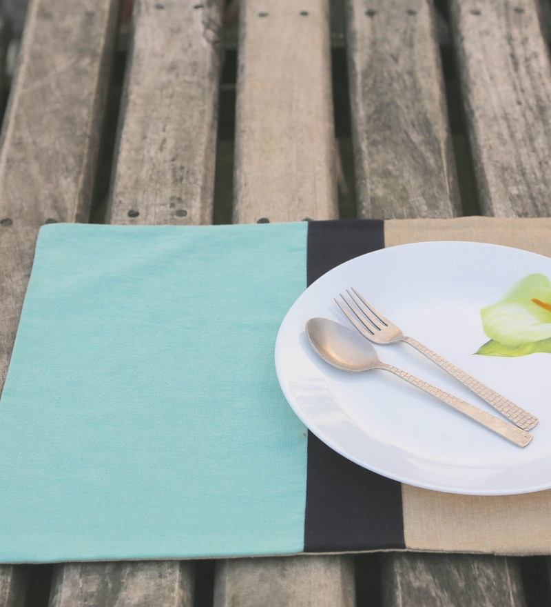 My Gift Booth Stripe Multicolour Linen Placemats - Set of 6