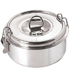 Nano 9 Clip-on Double Wall Insulated Silver Stainless Steel 500 ML Lunch Box