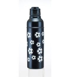 Nano 9 Double Wall Football Print Black Stainless Steel 500 ML Bottle