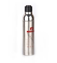Nano 9 Double Wall Insulated Black & Silver Stainless Steel 550 ML Bottle