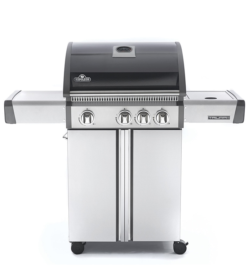 Napoleon Triumph 410 A 4 Burner Porcelain Steel And Stainless Steel Gas Barbeque