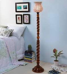 New Era Multicolor Glass Floor Lamp at pepperfry