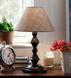 New Era Natural Jute & Siffner Table Lamp - 1597706