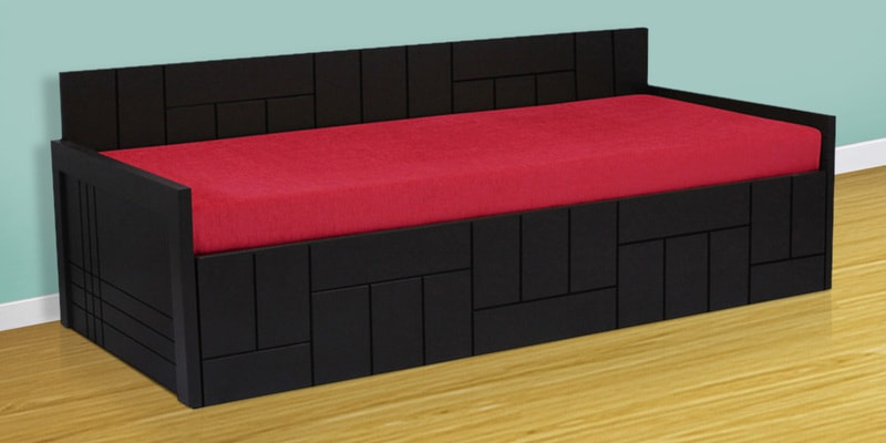 Nelson Sofa cum Bed in Red Colour by Auspicious Home