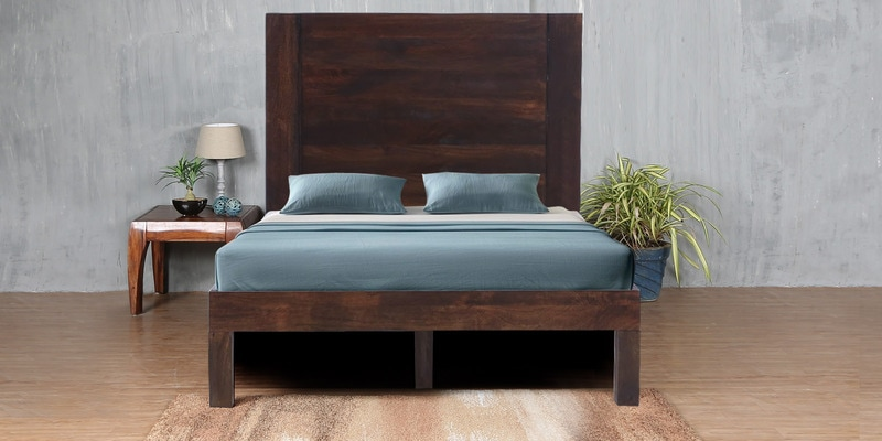 Nevada Solidwood Queen Bed in Provincial Teak Finish by Woodsworth