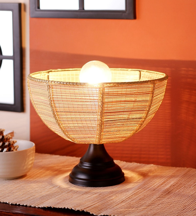 Umbrella Bamboo Table Lamp by New Era