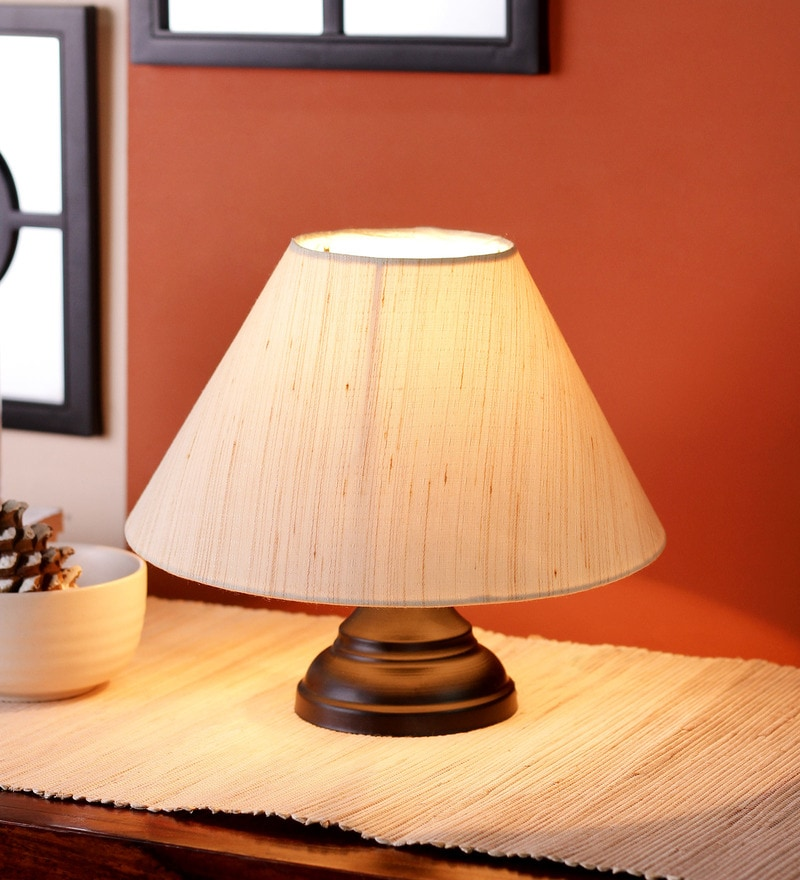 Brown Bamboo Table Lamp by New Era