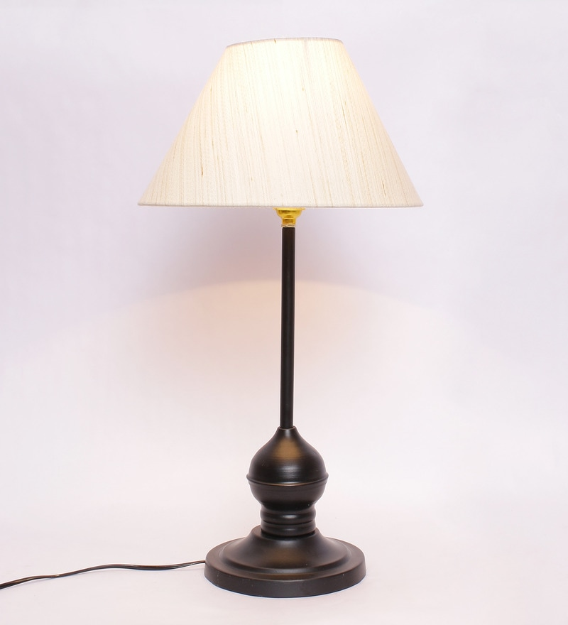 Off-white Metal & Cotton Table Lamp by New Era
