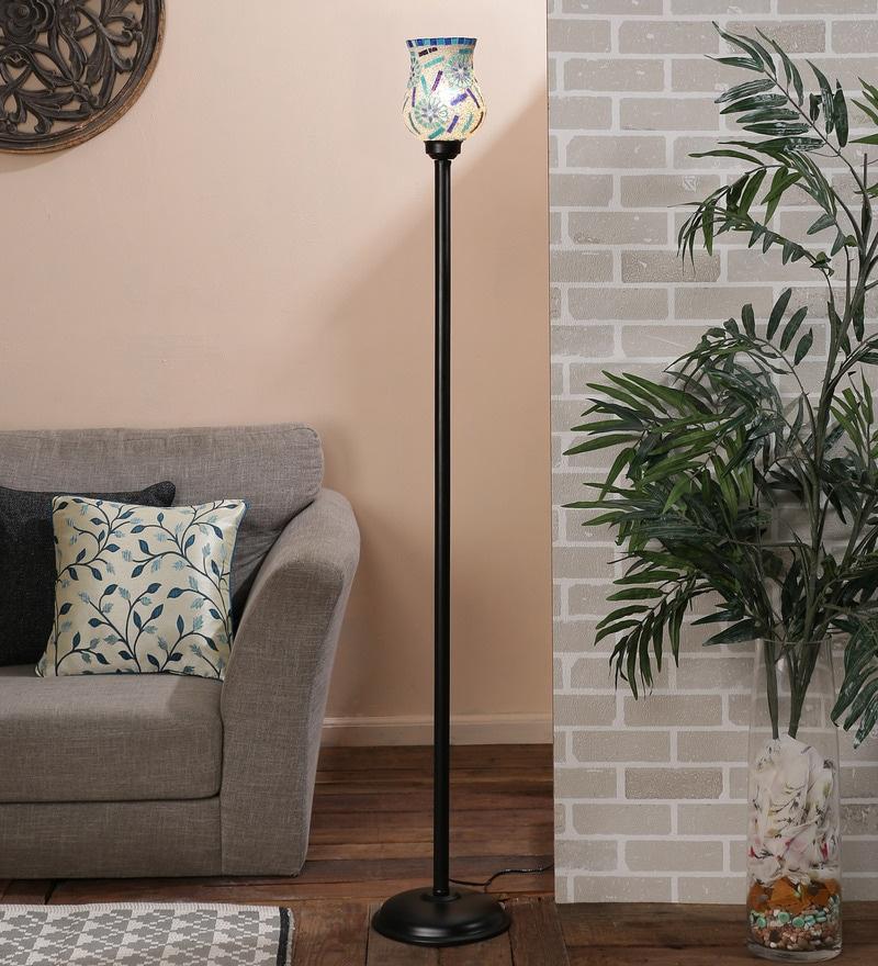 Multicolour Glass Floor Lamp by New Era
