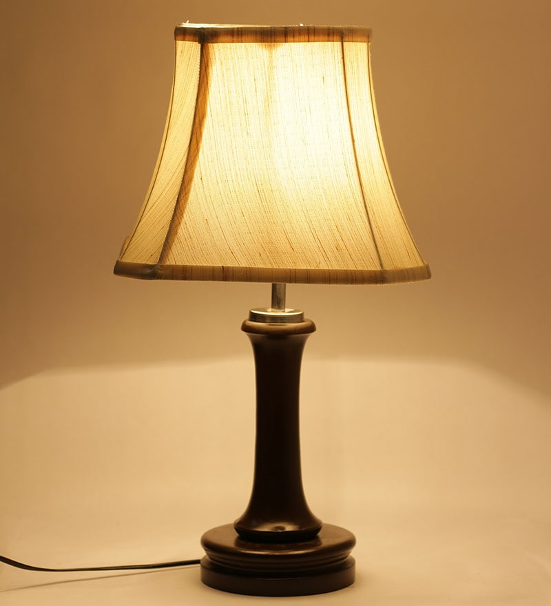 Brown Wooden Lamp by New Era