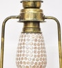 White and Gold Glass Diwali Lantern by New Era
