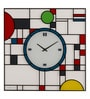 Nextime Multicolour Glass 16.9 x 16.9 Inch Frank Wall Clock