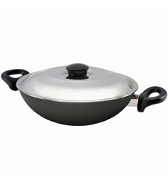 Nirlep Aluminium Non-Stick Induction Base Kadhai