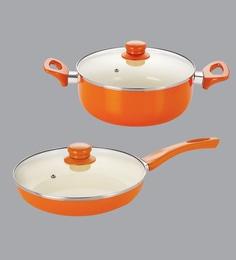 Nirlon Orange Aluminium Cookware Combo Gift - Set Of 2 - 1689057