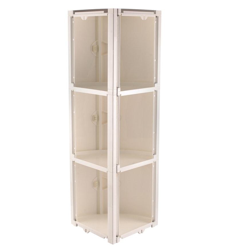 Buy White 3 Doors Blooms Storage Cabinet By Nilkamal