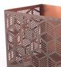 Brown Metal Rectangle Wall Decor by Ni Decor