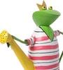 Ni Decor Multicolour Metal & Glass Frog Watercan