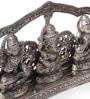 Silver Metal & Glass Ganpati Laxmi Saraswati Murti by Ni Decor
