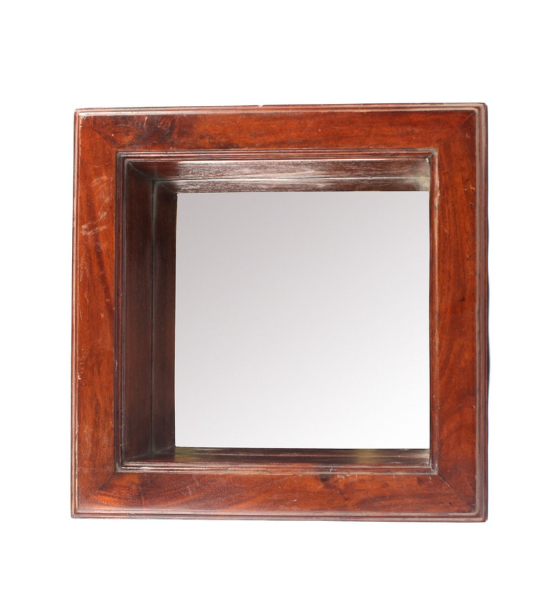 Noble Brown Iron & Wood Decorative Mirror