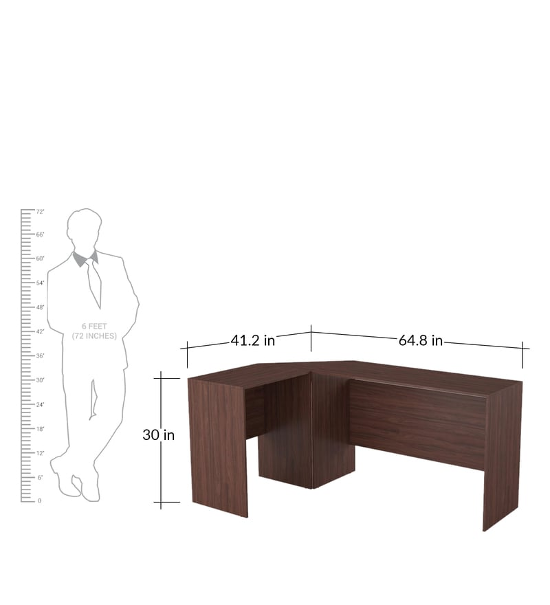 Buy Nobu Study Table in Nut Brown Finish by Mintwud Online - Modern Kitchen Cabinets Zil Nut on