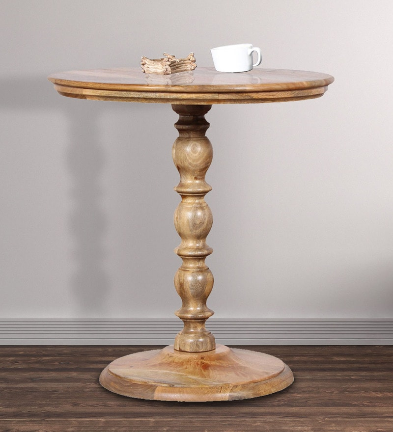 Normandy End Table in Natural Mango Finish by Amberville