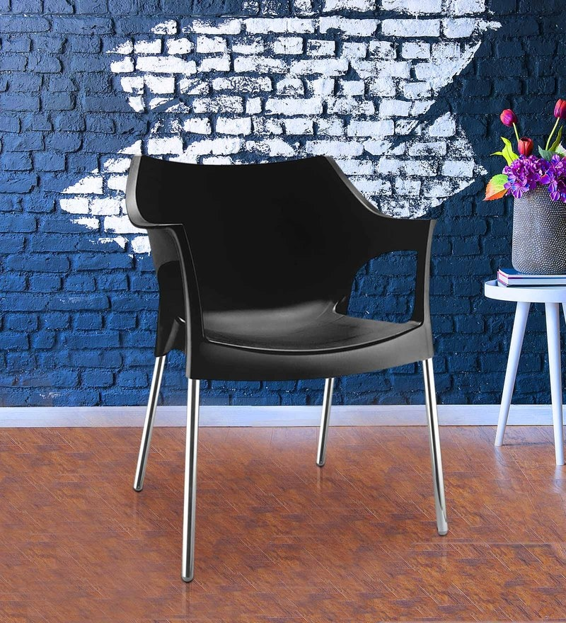 Novella Chair in Black Colour by Nilkamal