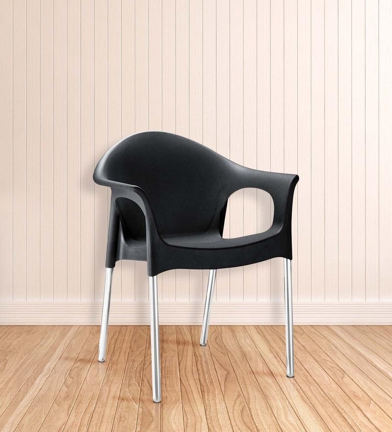 Novella Chair in Black Colour by Nilkamal