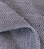 Blue Polyester 72 x 48 Inch Chevron Carpet by Obeetee