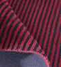 Obeetee Navy & Red Viscose 96 x 60 Inch Essential Stripe Carpet