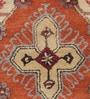 Orange Wool 96 x 60 Inch Sahara Persian Carpet by Obeetee