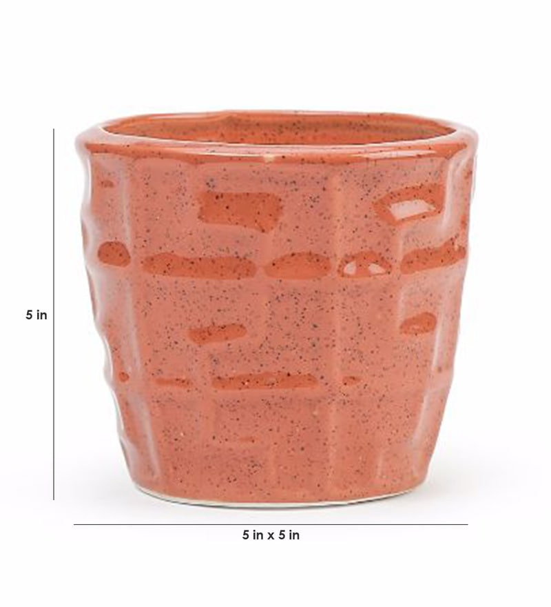 a96338474bc Buy Ochre Stoneware Hand Made Planter by Unravel India Online - Pots ...