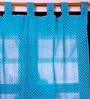 Ocean Collections Blue 100% Cotton 42 x 90 Inch Zig Zag Door Curtain - Set of 2