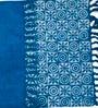 Ocean International Blue Cotton 35 x 24 Inch Floral Area Rug