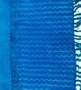 Ocean International Blue Cotton 35 x 24 Inch Zigzag Stripes Area Rug