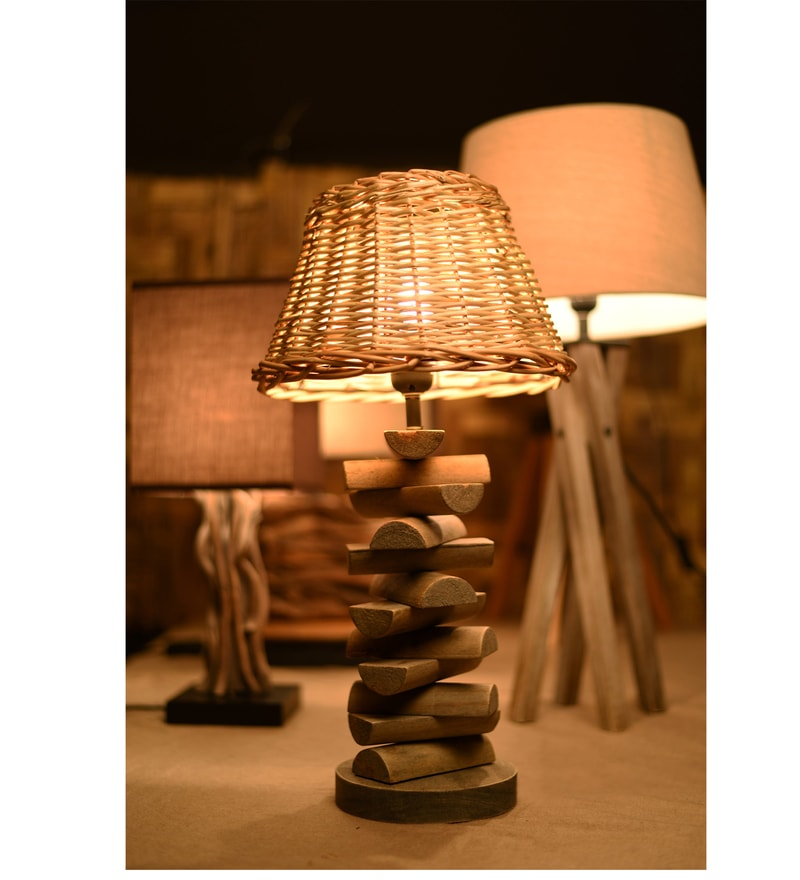 Brown Jute Entwined Table Lamp by OddCroft