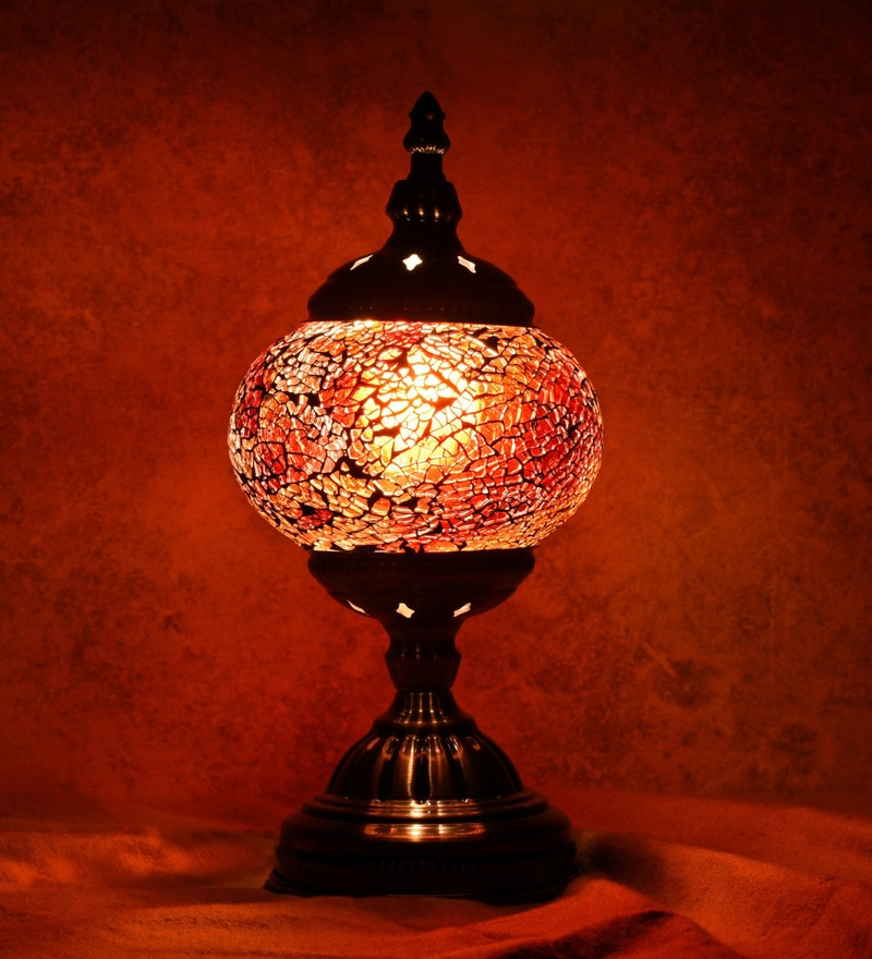 Orange Glass Table Lamp by OddCroft