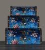OddCroft Wood & Acrylic Nestable Storage Chests - Set of 3