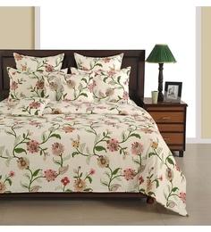 Off White Cotton King Size Bedsheet   Set Of 3