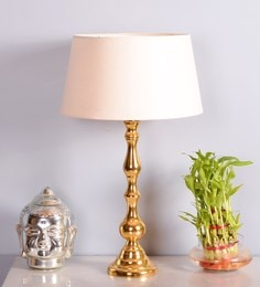 Table lamps buy table lamps online in india at best prices off white cotton table lamp mozeypictures Images
