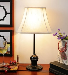 Off White Cotton Table Lamp - 1612189