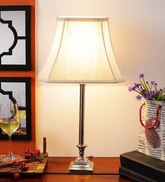 Off White Cotton Table Lamp - 1612178