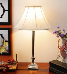 Off White Cotton Table Lamp - 1612177
