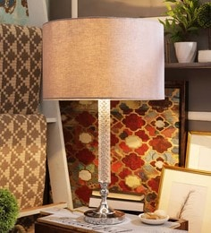 Off White Cotton Table Lamp - 1611608