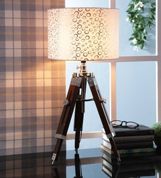 Off White Fabric Table Tripod Lamp - 1693648