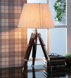 Off White Fabric Table Tripod Lamp - 1693643