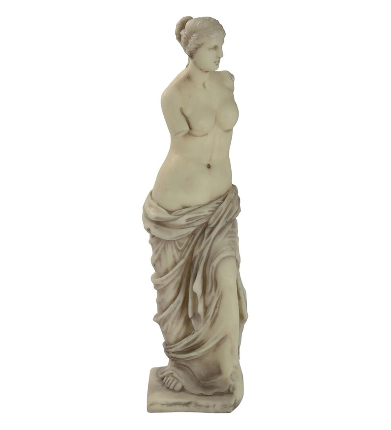Off- White Resin European Standing Lady Figurine by V Decor
