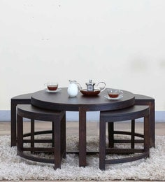 Omaha Coffee Table Set In Warm Chestnut Finish