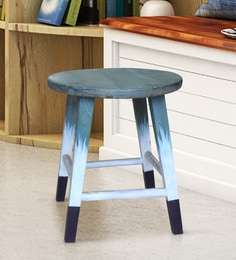 Ombray Stool In Multi-Coloured Distressed Finish